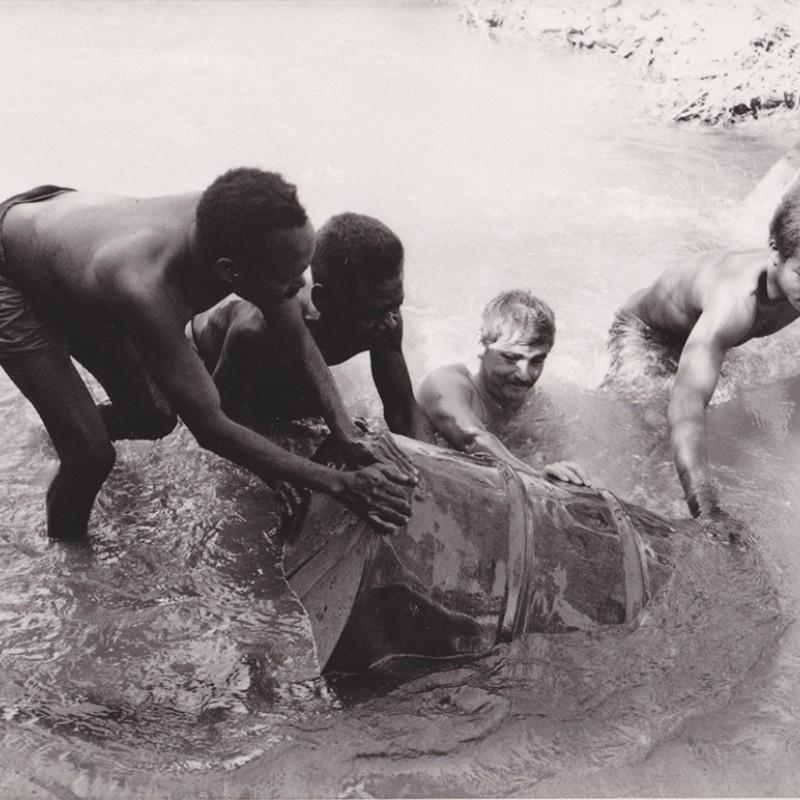 Trabalhos de captação de água