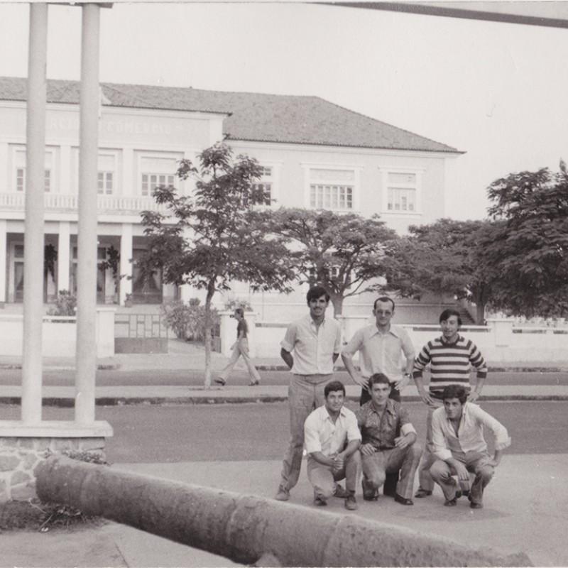 Grupo de licença na cidade do Luso