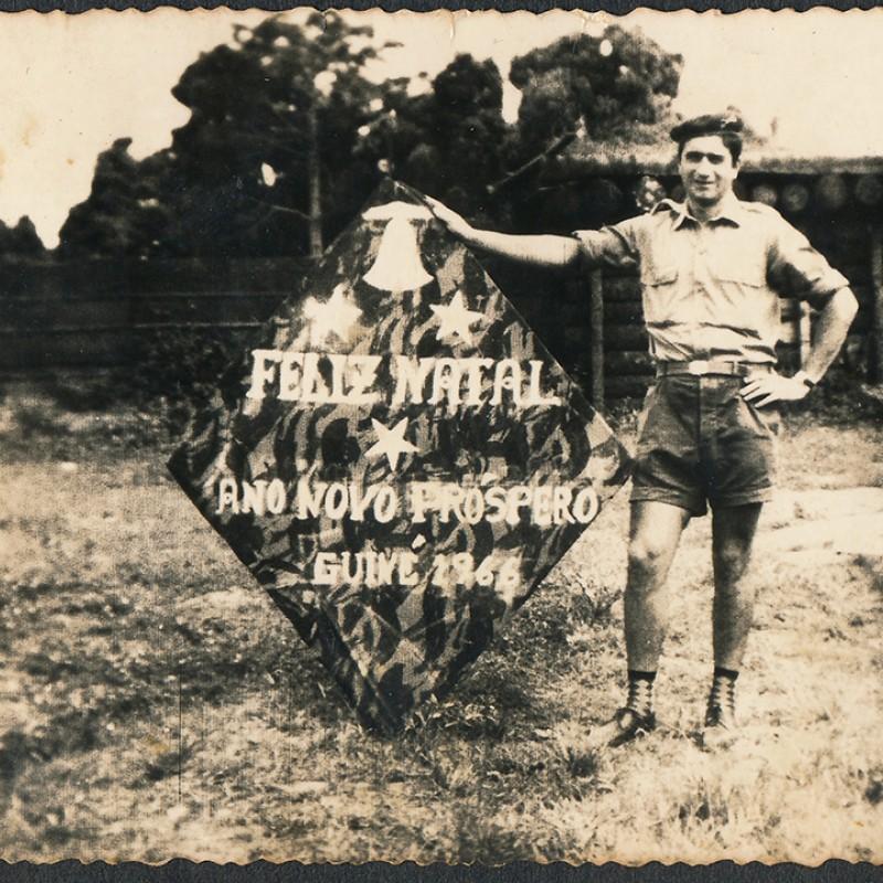 postal de natal de soldado