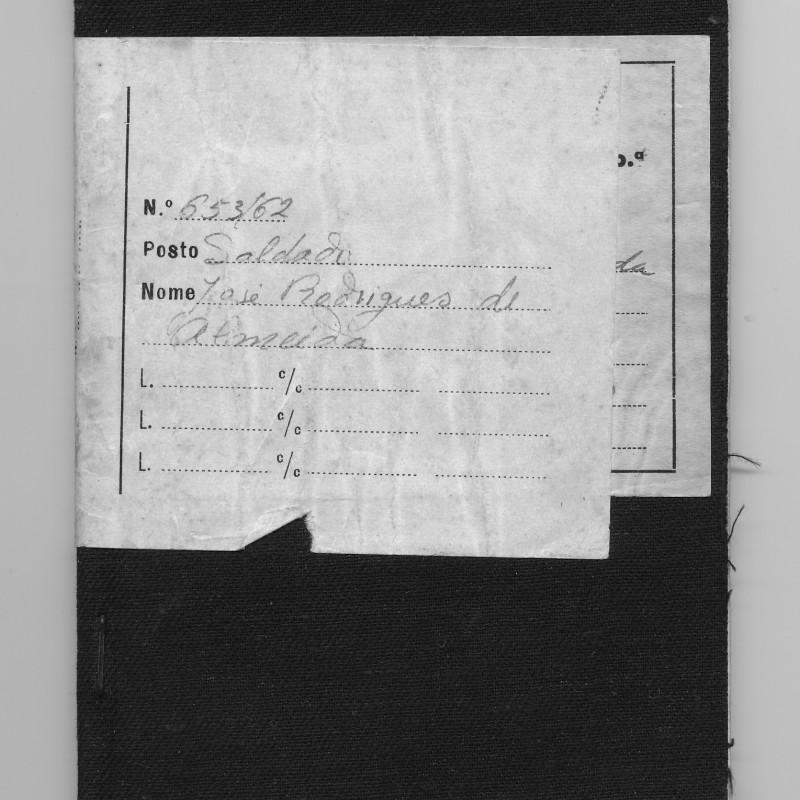 Caderneta Militar (capa)
